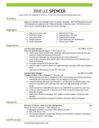 sales manager resume assistant managers resume exles created by pros myperfectresume