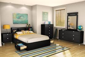 Black Bedroom Furniture Sets Full Amazon Com South Shore Spark Full Mates Bed Pure Black Kitchen
