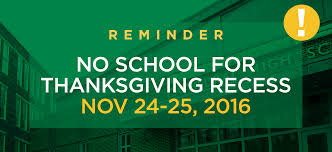 thanksgiving recess no school cathedral 7 12 high school boston