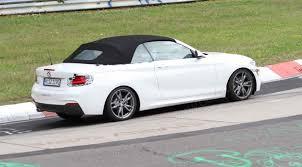 2015 bmw 2 series convertible bmw 2 series convertible 2015 spied at the nurburgring by car