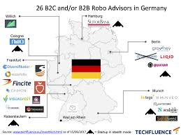 Germany Europe Map by Map Of Robo Advisors In Europe Updates