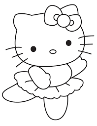 kitty dancing ballet coloring free printable coloring