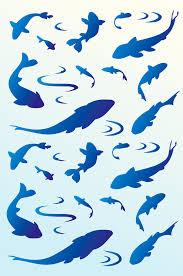 small fish silhouettes stencil henny donovan motif