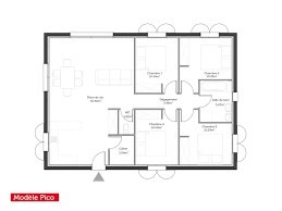 plan maison 100m2 3 chambres plan maison plein pied 100m2 ides