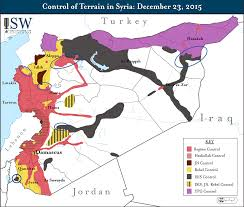 Syria On A Map by Isw Blog Control Of Terrain In Syria December 23 2015