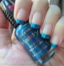 liz hearts beauty wet n wild fastdry nail polish french tip style