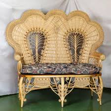 magnificent victorian style stick u0026 ball wicker loveseat from the