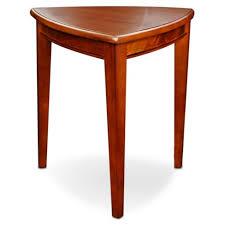 leick corner accent table shield stacking corner table set glazed auburn leick furniture