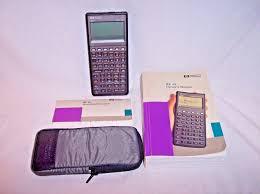 hewlett packard hp 48s scientific graphing calculator w case