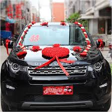 wedding car decorations heart shaped wedding party car decorations artificial flowers