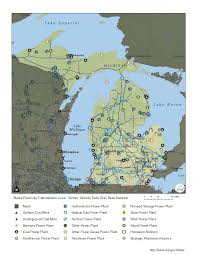 Michigan Power Outage Map by Michigan Power Grid Map Michigan Map