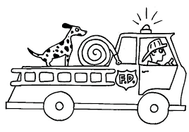 fire truck coloring pages with dog u2013 vonsurroquen me