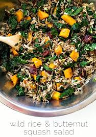 rice and butternut squash salad with maple dressing