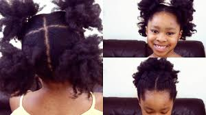 3 simple cute natural hair styles for kids youtube