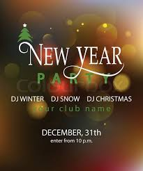 new years or birthday party invitation stock image new year party blured background design template new year party