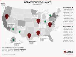 Average 1 Bedroom Rent Us Abodo Annual Rent Report 2016 In Review