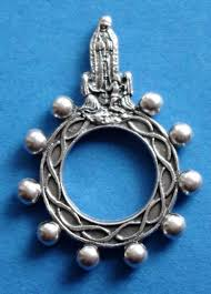 rosary rings our of fatima silhouette rosary ring
