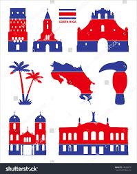 Costarica Flag Vector Symbols Costa Rica Flag Costa Stock Vector 345028676