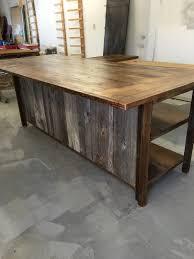 island kitchen island reclaimed wood