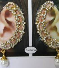 kaan earrings buy white golden kaan earrings online