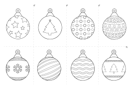 christmas baubles printable free coloring pages free printable