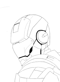 iron man sketches drawings easy sketch coloring page