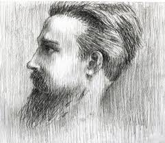 me bearded man profile pencil drawing photo page everystockphoto