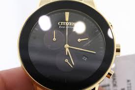 gold tone bracelet watches images Men 39 s citizen at2242 55e axiom eco drive gold tone bracelet watch jpg