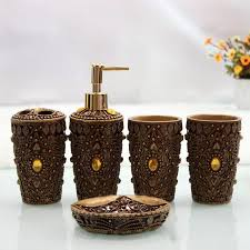 hand engraved art bath set of 5pcs ultimate morocco bathroom