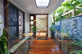 Stylish House Entrance To Stylish Modern Home Stock Photo Picture And Royalty
