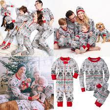 family matching pajamas set baby deer
