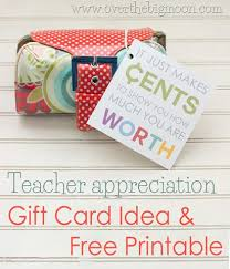 how much are gift cards appreciation gift card idea and free printable