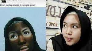 Masker Naturgo Di Jogja viral dikira masker ternyata yang dipakai adalah henna bukannya