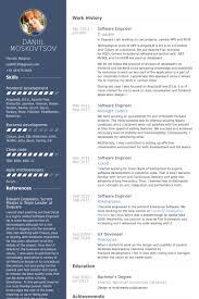 resume formatting software software developer resume template gfyork