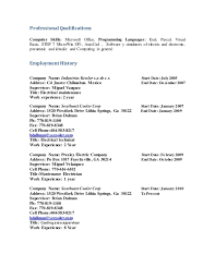 resume title profesional engineering