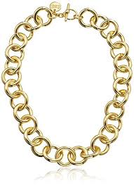 1ar by unoaerre 1ar by unoaerre 18k gold plated circle link necklace