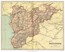 Map Of England And Wales Merionethshire Genealogy Heraldry And Family History