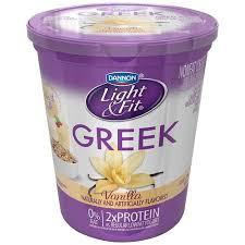 light and fit vanilla yogurt dannon light fit greek yogurt as low as 1