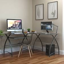 Corner L Shaped Desk by Stillman L Shaped Desk In Black