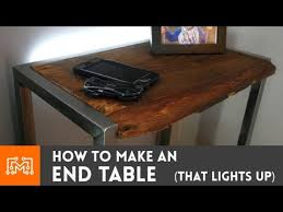 Side Table With Built In Lamp Bedside Table With A Built In Night Light How To Youtube