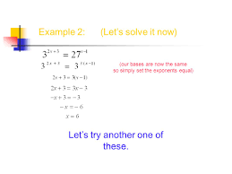 discuss the equality property of exponential equation ppt download