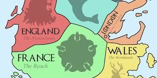 Real World Map This Map Of Westeros Shows The European Equivalents Of The Seven