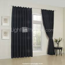 Neoclassical Decor Two Panels Curtain Neoclassical Solid Bedroom Rayon Material
