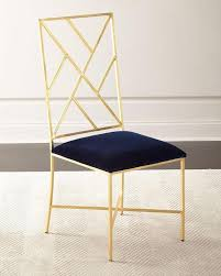 Gold Dining Chairs Fretwork Gold Velvet Dining Chair