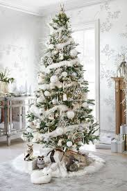 Christmas Decorations In The Home by Christmas Trees Decorated In White 11731
