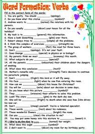 word formation from adjective to noun or verb esl pinterest