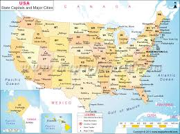 united states map with states and capitals and major cities usa state capitals and major cities map school ideas