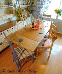 Extending Dining Tables Shabby Chic Extending Dining Table And 6 Chairs Painted Mix