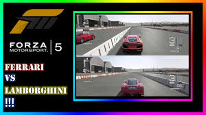 enzo vs lamborghini aventador forza 5 racing enzo vs lamborghini aventador splitscreen