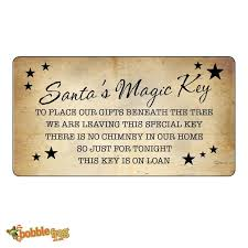 santa key santa s magic key poem labels stickers vintage style christmas